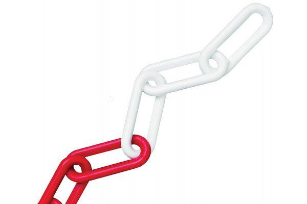 Faithfull Plastic Chain 8mm x 12.5m Red / White