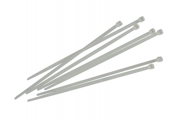 Faithfull Cable Ties White 150mm x 3.6mm Pack of 100