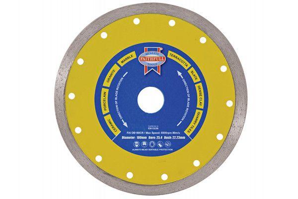 Faithfull Diamond Tile Blade Continuous Rim 115 x 22.2mm