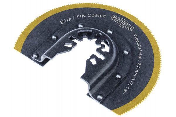 Faithfull Multi-Functional Tool Bi-Metal Radial Saw TiN Coated Blade 87mm