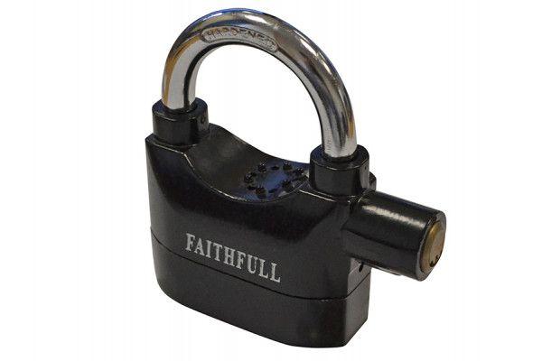 Faithfull Padlock with Security Alarm 70mm