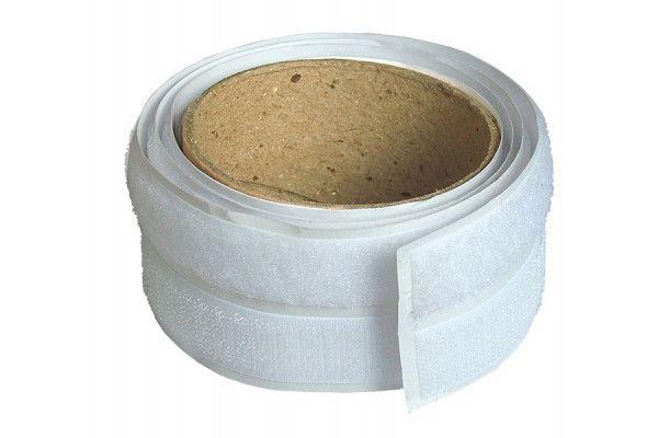 Faithfull Hook & Loop Self-Adhesive Tape 20mm x 1m White