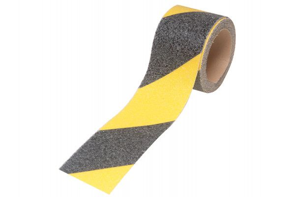 Faithfull Anti-Slip Tape Self Adhesive 50mm x 3m Black / Yellow