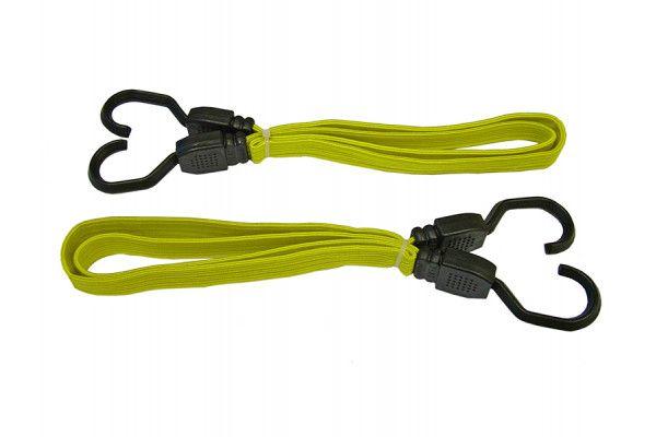 Faithfull Flat Bungee Cord 90cm (36in) Yellow 2 Piece