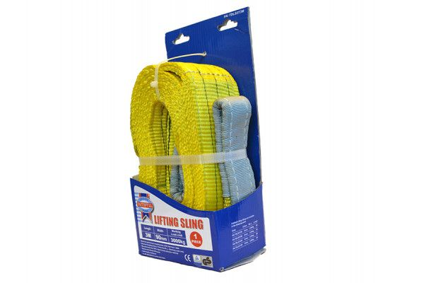Faithfull Lifting Sling Yellow 3 Tonne 90mm x3m