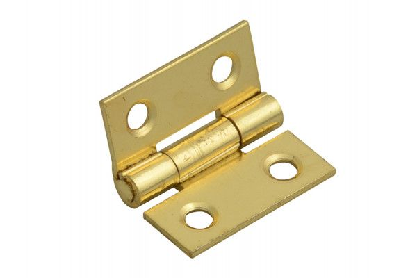 Forge Butt Hinge Brass Finish 25mm (1in) Pack of 2