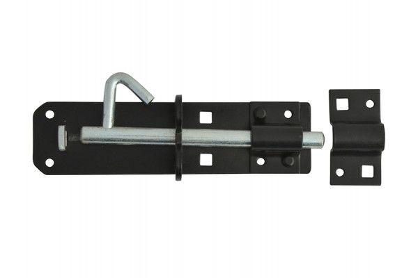 Forge Padlock Bolt Black Powder Coated 150mm (6in)