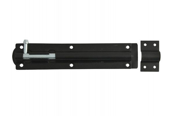 Forge Tower Bolt Black Powder Coated 200mm (8in)