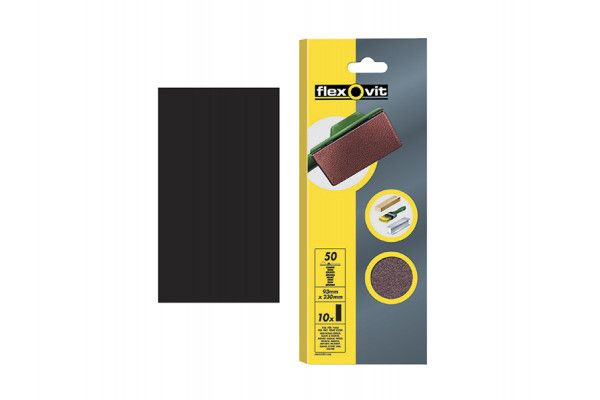 Flexovit, 1/3 Plain Sanding Sheets 93 x 230mm
