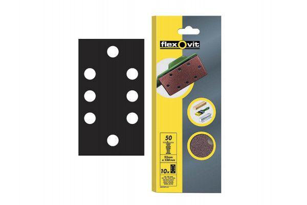 Flexovit, 1/3 Perforated Sanding Sheets 93 x 230mmmm