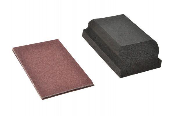 Flexovit Hook & Loop Sanding Block Kit Assorted 70 x 125mm (3)