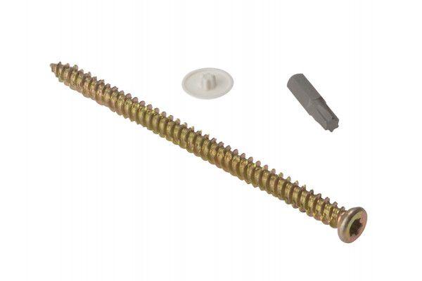 Forgefix Concrete Frame Screw Torx® Compatible High-Low Thread ZYP 7.5 x 42mm Bag 10
