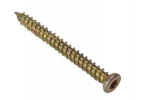 Forgefix, Concrete Frame Screws High-Low Thread, Torx Compatible Zinc Yellow Passivated, Bagged