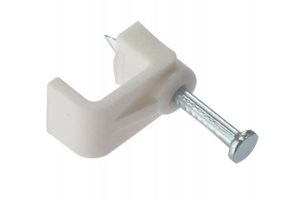 Forgefix Cable Clip Flat White 2.50mm Box 100