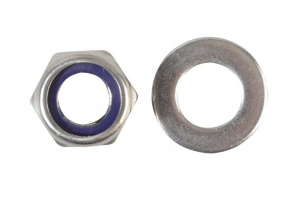 Forgefix Nyloc Nuts & Washers A2 Stainless Steel M12 Forge Pack 6