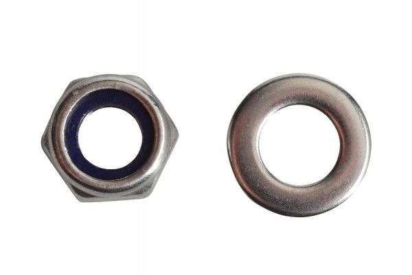 Forgefix Nyloc Nuts & Washers A2 Stainless Steel M6 Forge Pack 20