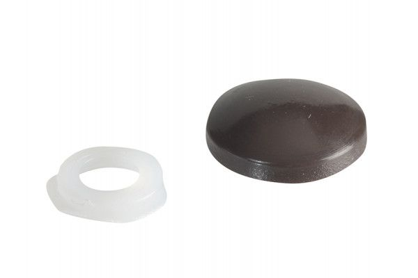 Forgefix Domed Cover Cap Dark Brown No. 6-8 Forge Pack 20