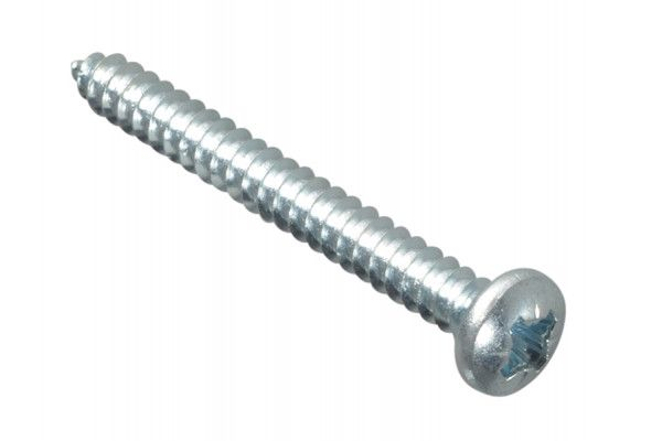 Forgefix Self-Tapping Screw Pozi Pan Head ZP 1.1/2in x 8 Forge Pack 15