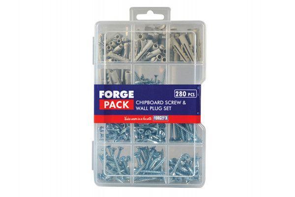 Forgefix Screw & Wall Plug Kit Forge Pack 280 Piece