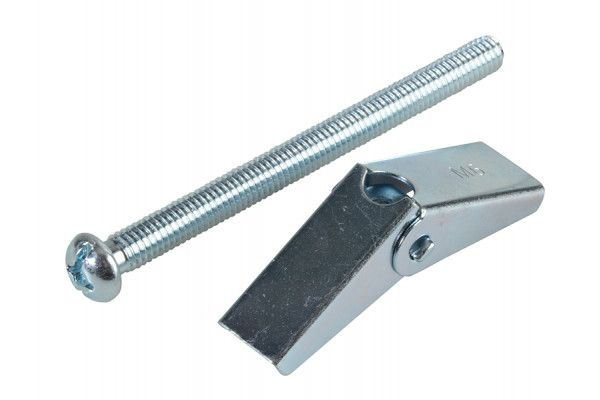 Forgefix Plasterboard Spring Toggle ZP M6 x 75mm Forge Pack 4