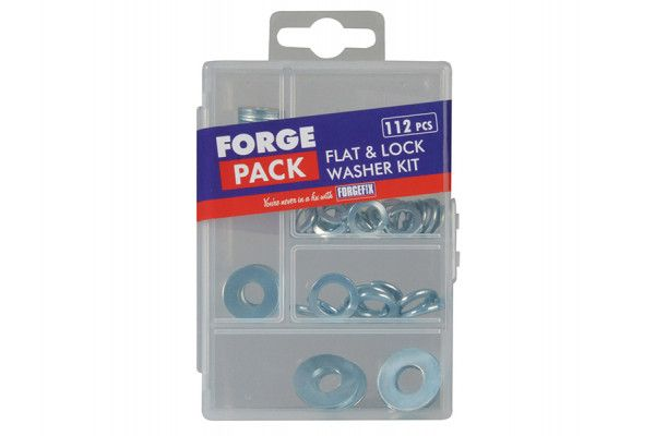 Forgefix Flat Washer Kit Forge Pack 112 Piece
