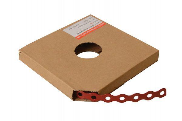 Forgefix Red Plastic Coated Pre-Galvanised Band 12mm x 0.8 x 10m Box 1
