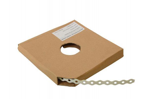 Forgefix White Plastic Coated Pre-Galvanised Band 12mm x 0.8 x 10m Box 1