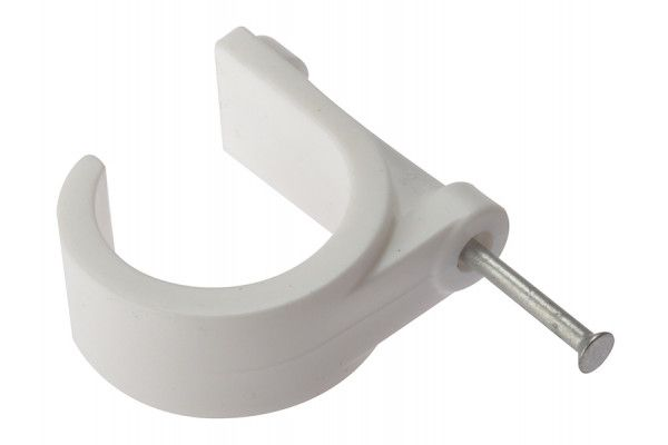 Forgefix Pipe Clip with Masonry Nail 28mm Box 100