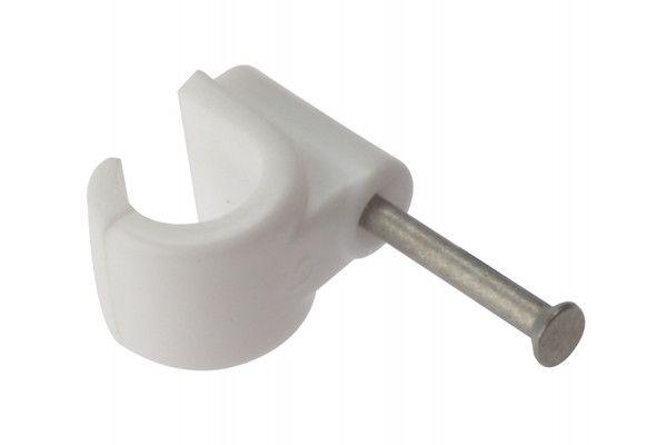 Forgefix Pipe Clip with Masonry Nail 11mm Box 100