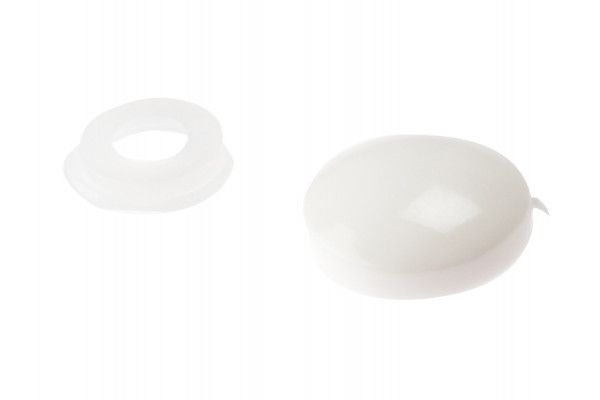 Forgefix Domed Cover Cap White No. 6-8 Bag 25
