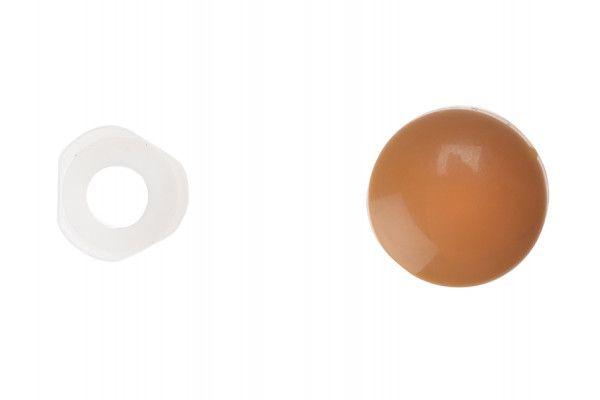 Forgefix Domed Cover Cap Light Brown No.6-8 Bag 25