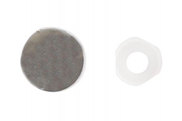 Forgefix Domed Cover Cap Chrome Coloured No. 6-8 Bag 25