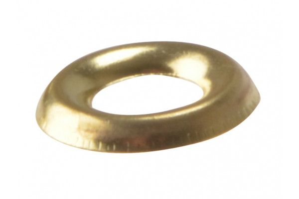 Forgefix Screw Cup Washers Solid Brass Polished No.6 Bag 200