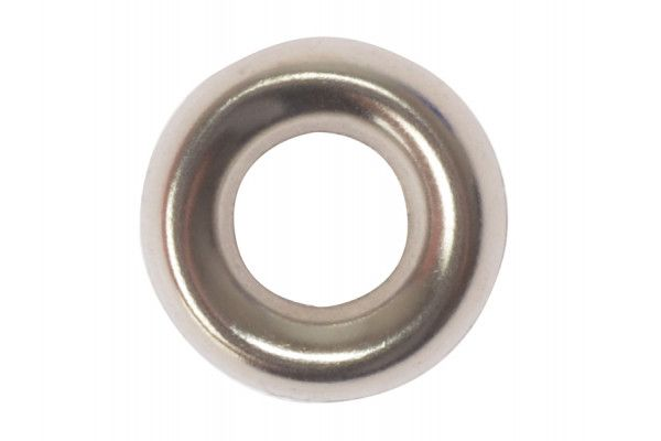 Forgefix Screw Cup Washers Solid Brass Nickel Plated No.8 Bag 200