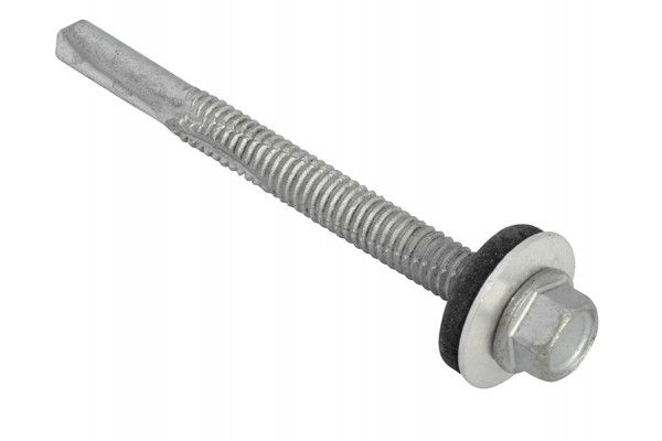 Forgefix TechFast Hex Head Roofing Screw Self-Drill Heavy Section 5.5 x 60mm Pack 50