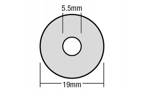 Forgefix TechFast Bonded EPDM Washer 5.5 x 19mm Box 100