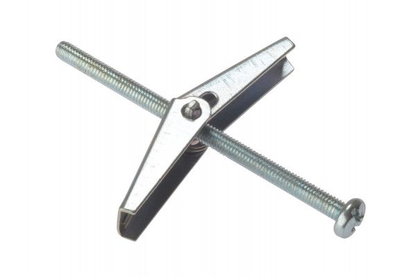 Forgefix Plasterboard Spring Toggle M3 x 50mm Bag 10