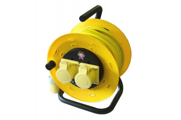 Faithfull Power Plus Cable Reel 50m 16 amp 1.5mm Cable 110V