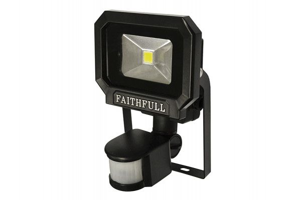 Faithfull Power Plus COB LED Security Light with PIR 10 Watt 240 Volt