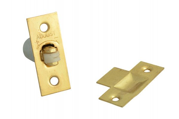 Forge Adjustable Roller Catch - Brass Finish Pack of 2