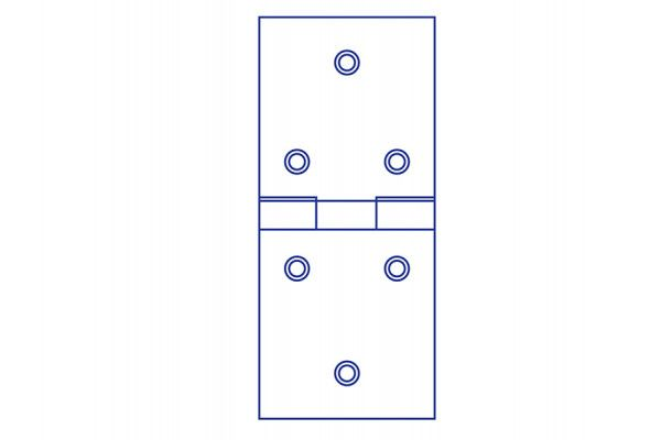 Forge Backflap Hinge Zinc Plated 50mm (2in) Pack of 2