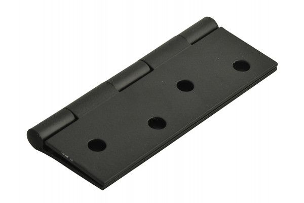 Forge Butt Hinge Black Powder Coated 100mm (4in) Pack of 2