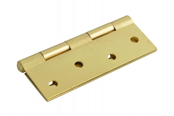 Forge Butt Hinge Brass Finish 100mm (4in) Pack of 2