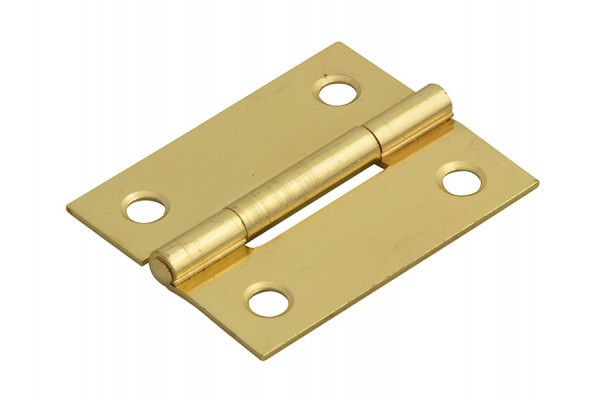 Forge Butt Hinge Brass Finish 50mm (2in) Pack of 2