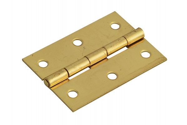 Forge Butt Hinge Brass Finish 65mm (2.5in) Pack of 2