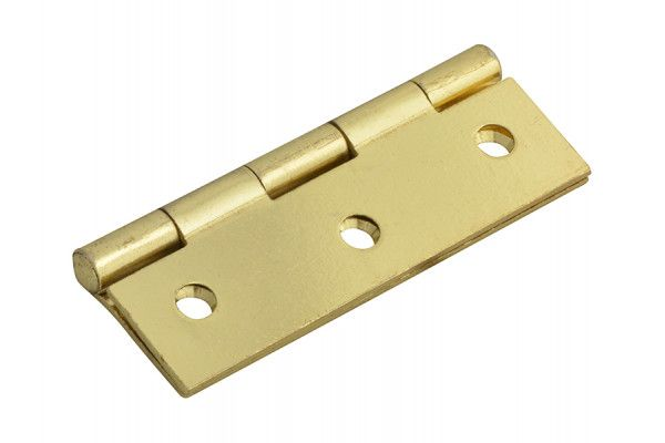 Forge Butt Hinge Brass Finish 75mm (3in) Pack of 2