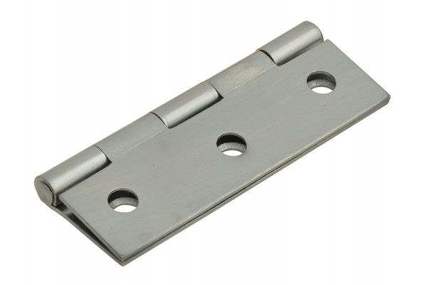 Forge Butt Hinge Polished Chrome Finish 75mm (3in) Pack of 2