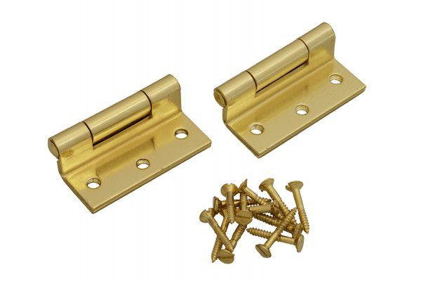 Forge Stormproof Hinge Brass Finish 63mm (2.5in) Pack of 2