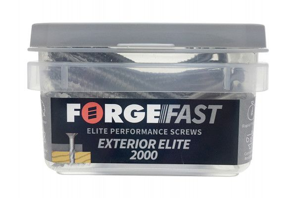 Forgefix ForgeFast Exterior Elite 2000 Pozi Compatible Wood Screw 4 x 30mm Box 400