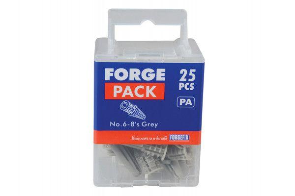 Forgefix Nylon Plasterboard Plugs 4mm Forge Pack 10